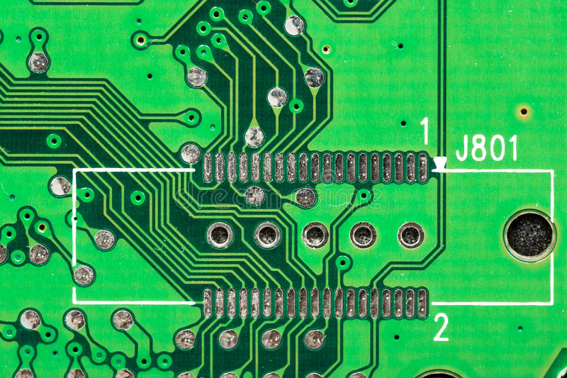 Electronic Computer Circuit Board. Close Up royalty free stock photos