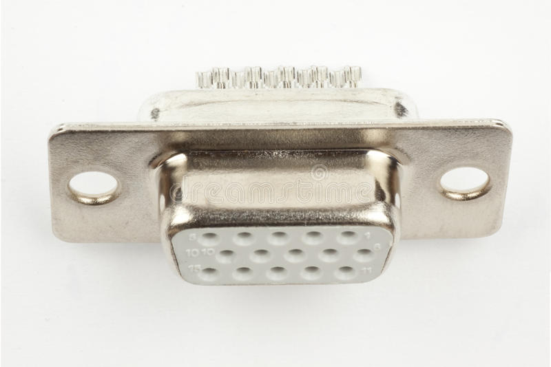 Download Electronic connector stock image. Image of pins, female - 14114967