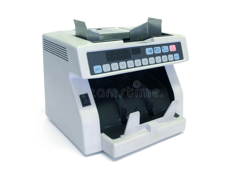 Electronic currency counter stock images