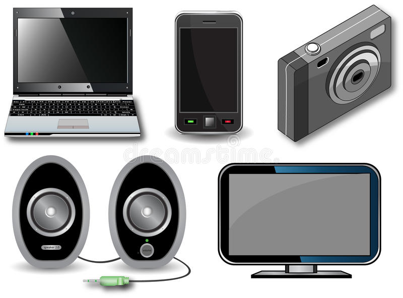 Download Electronic devices stock vector. Illustration of speaker - 15240824
