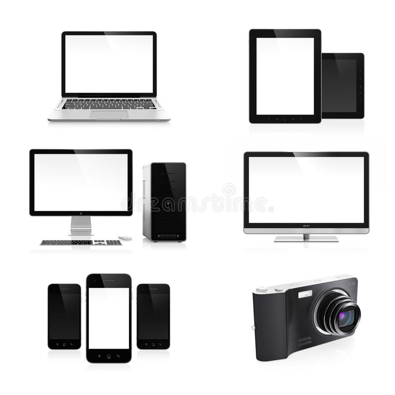 Electronic devices stock illustration