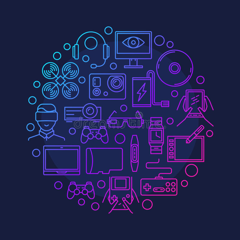 Electronic Devices And Gadgets Symbol Stock Vector Illustration Of