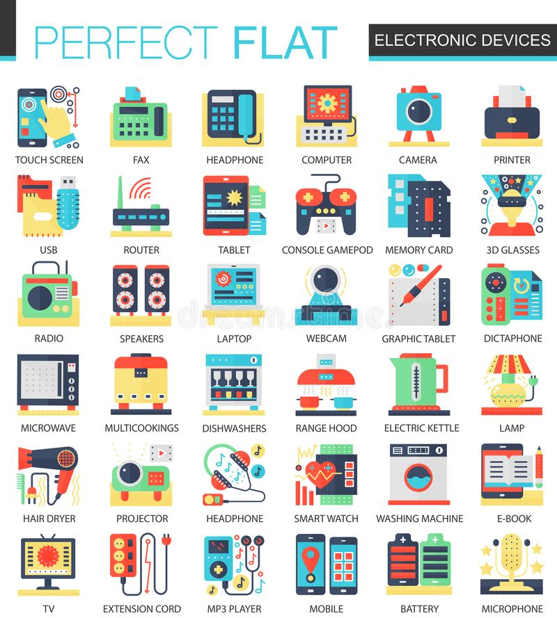Electronic Devices And Gadgets Vector Complex Flat Icon Concept ...