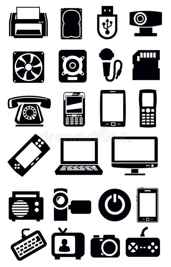 Download Electronic devices icon stock vector. Image of desktop - 30555042