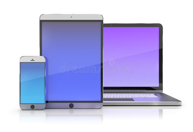 Electronic devices royalty free illustration