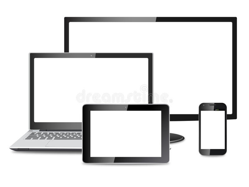 Electronic devices vector eps stock illustration