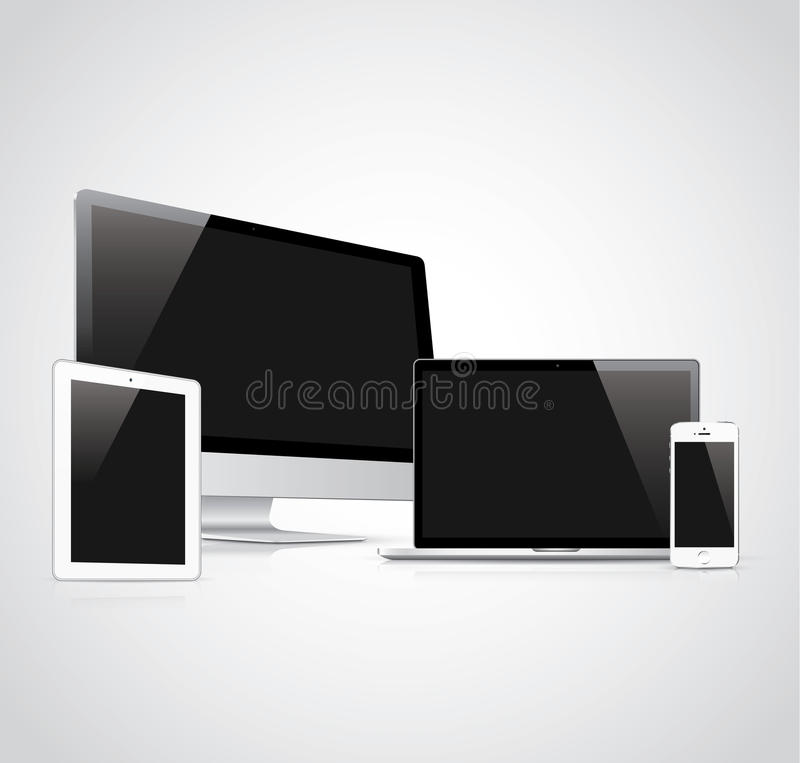Electronic devices vector illustration. Eps10 stock illustration