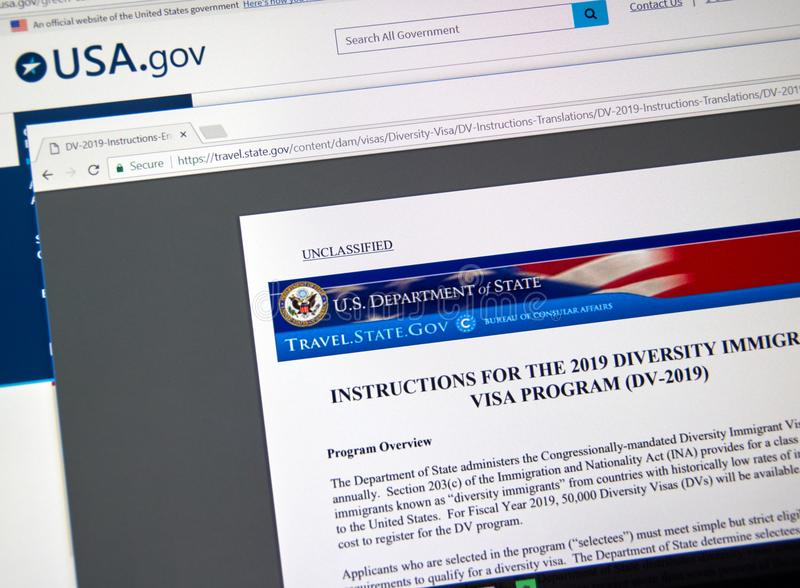 Electronic Diversity Visa Lottery Official Web Site