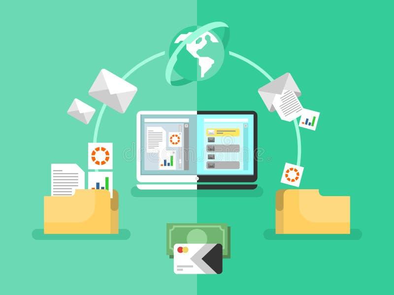Electronic document management stock illustration