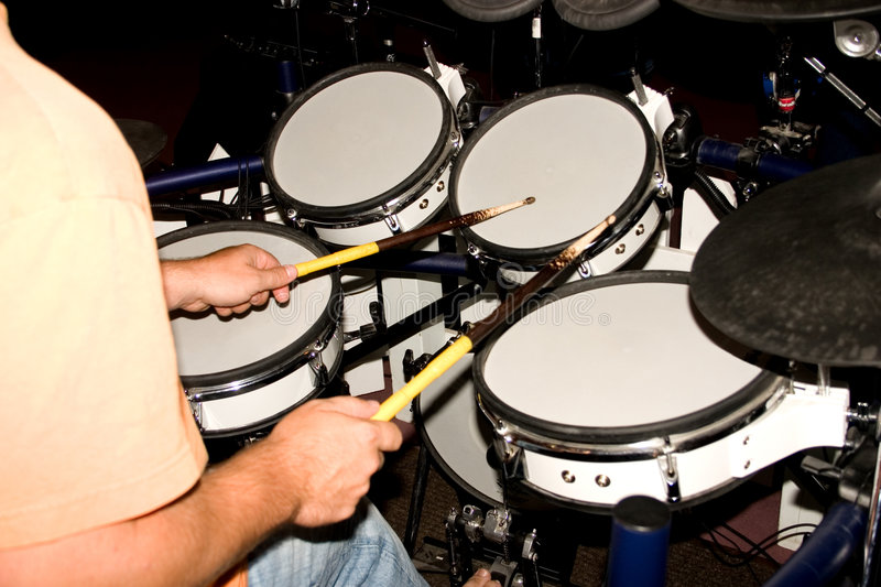Electronic Drums stock photo