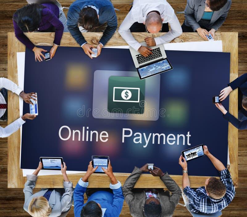 Electronic E-Banking Investment Economics Concept. Business People Electronic E-Banking Investment stock photo