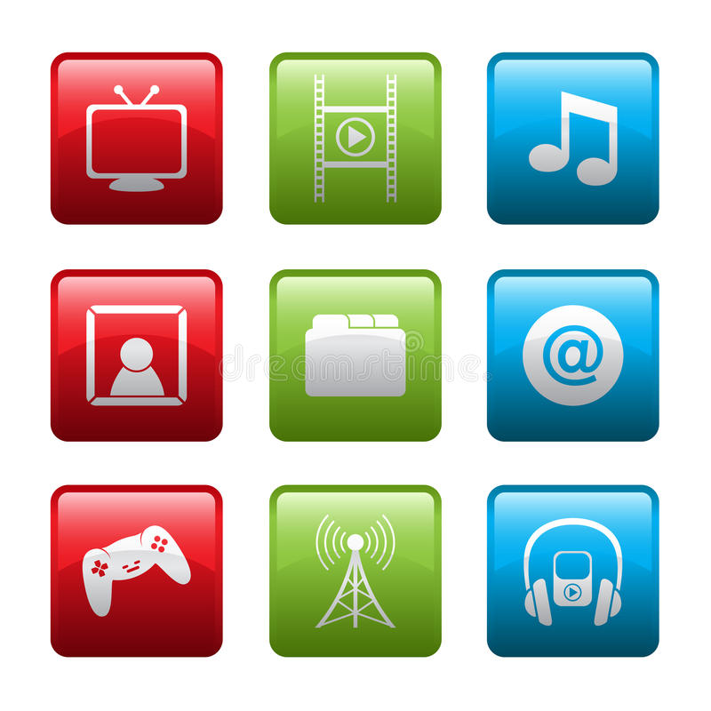Download Electronic Entertainment Icons Stock Photography - Image: 28834952