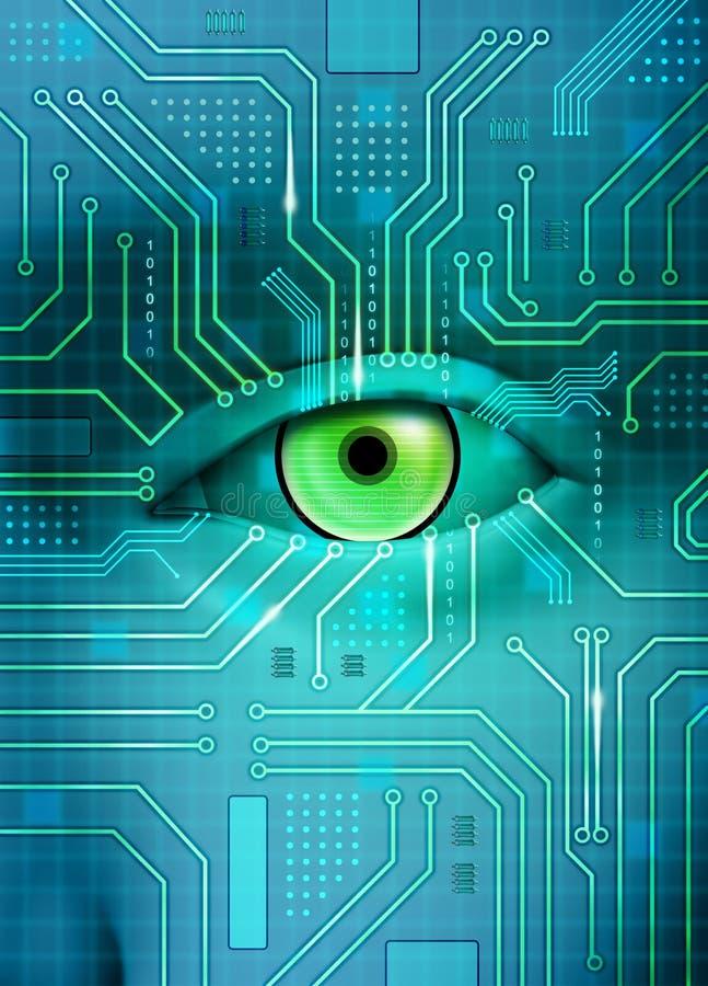 Electronic eye royalty free illustration