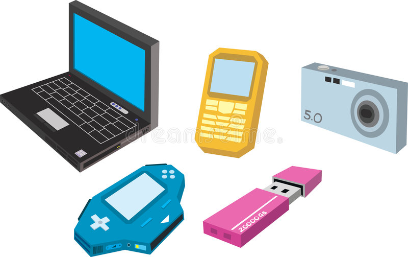 Download Electronic Gadget stock illustration. Illustration of laptop - 2471793