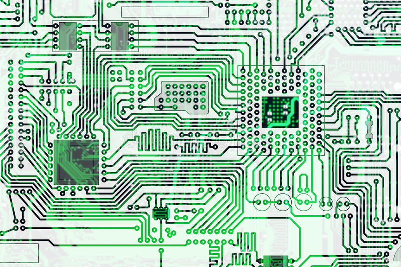 Electronic High-tech Circuit Board Background Royalty Free Stock Photo
