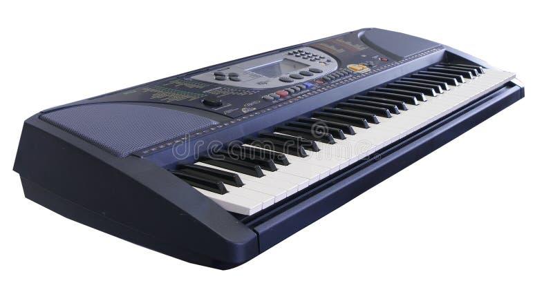 Electronic keyboard on white background stock images