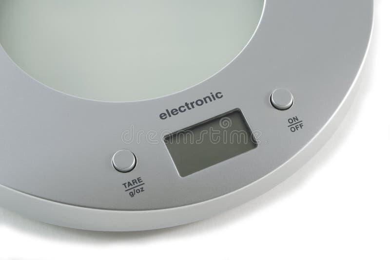 Electronic kitchen balance royalty free stock photos
