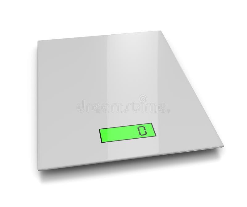 Electronic Kitchen Scales stock illustration