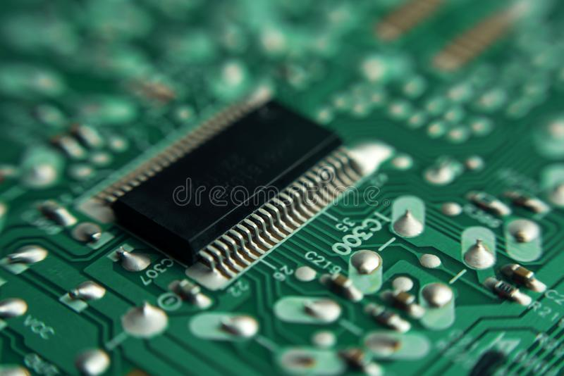 Electronic labyrinths of technology stock image
