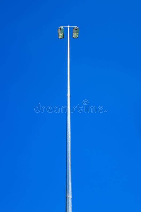 Electronic Light. In the Blue Sky stock image
