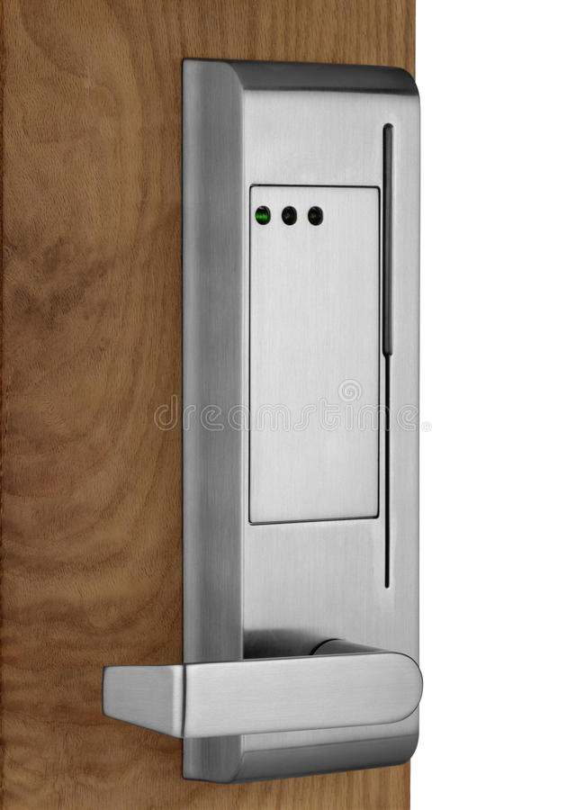 Electronic Lock On Door Stock Photography