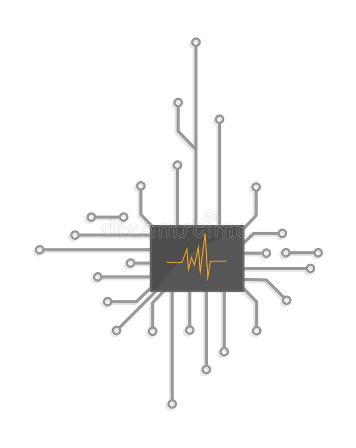 electronic logo chip royalty free stock images