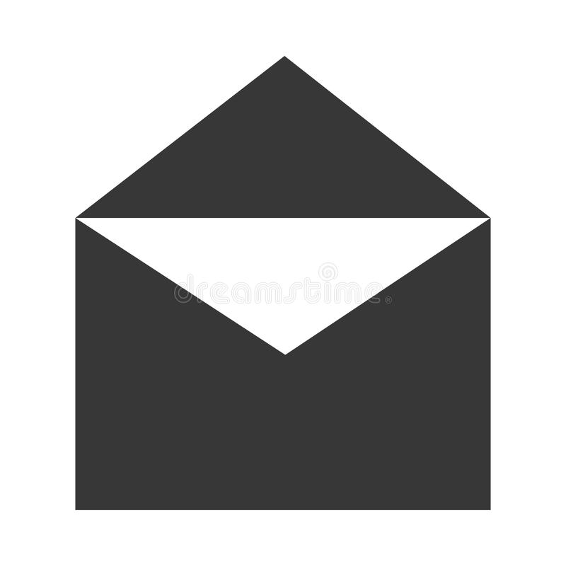 Electronic mail or mailing icon. Electronic mail or internet mailing icon in gray and white colors, vector illustration vector illustration