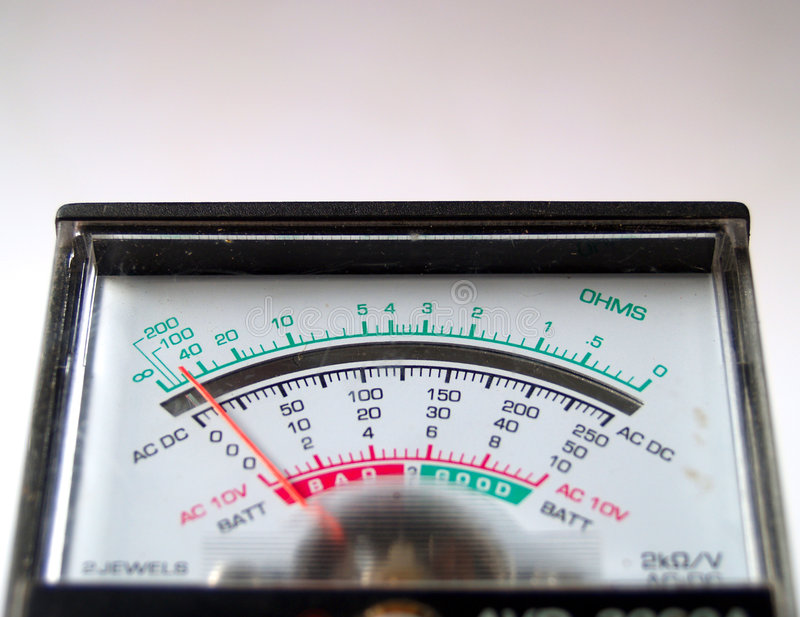 Electronic measure. Electrician's Multi-meter stock photo