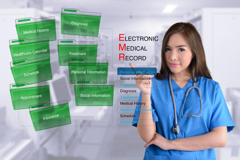 Electronic medical record system. royalty free stock image