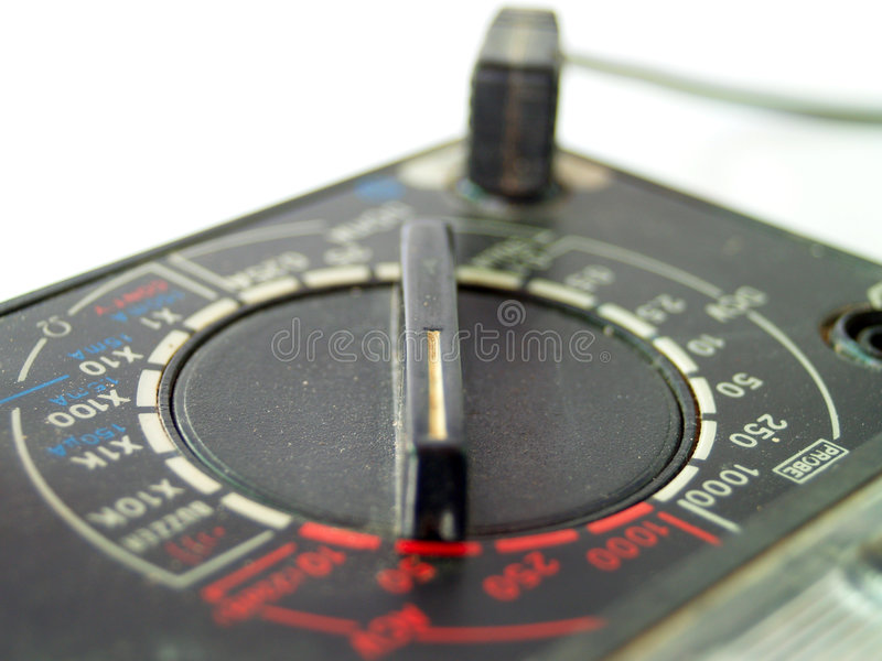 Electronic meter. Electrician's Multi-meter / ohm meter royalty free stock photography