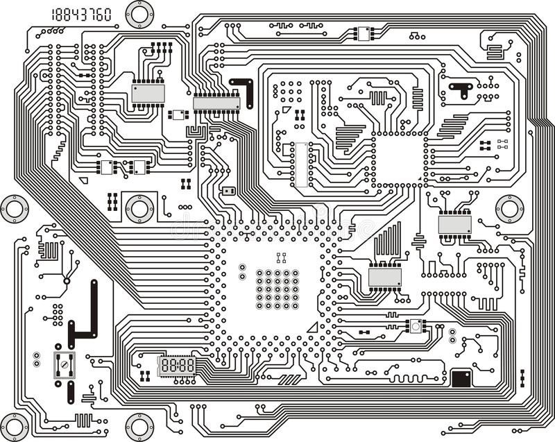 Electronic modern circuit board vector background vector illustration