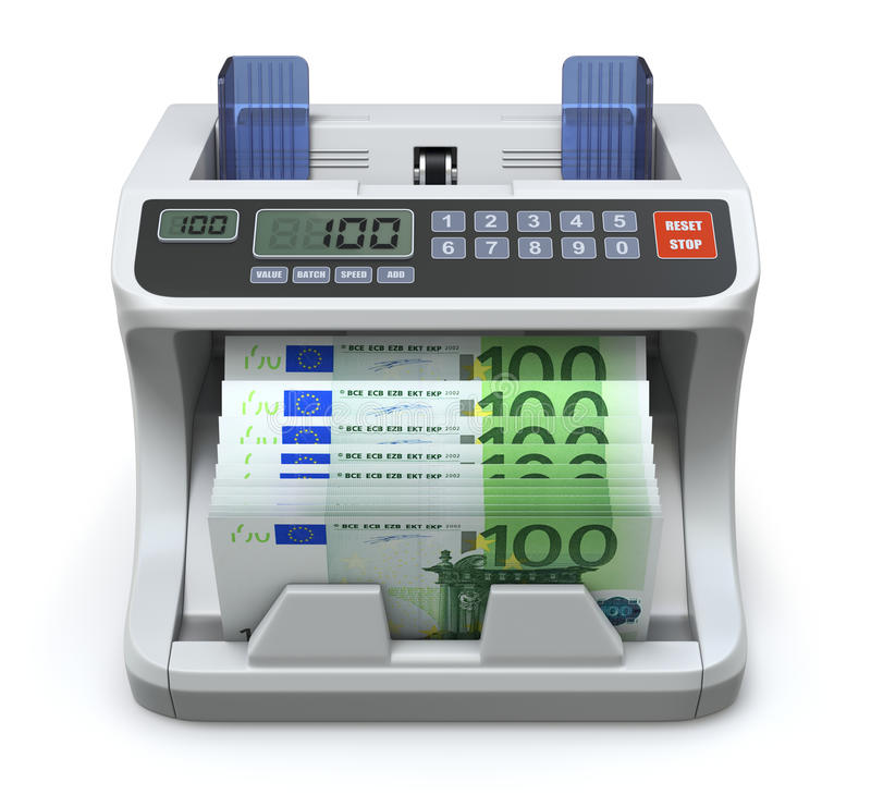 Electronic money counter vector illustration