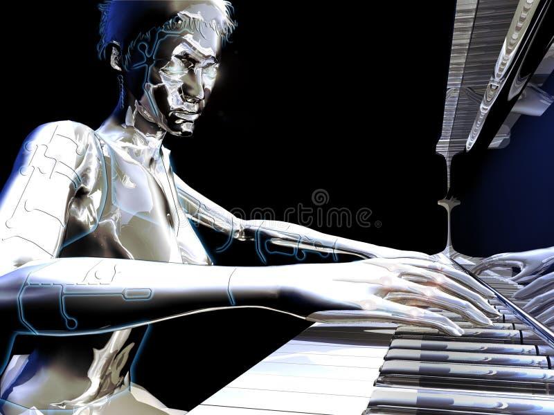 Electronic music royalty free illustration