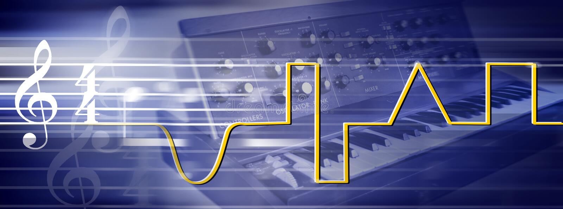 Electronic music stock photo