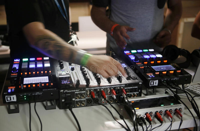 Electronic music gear 016 stock images