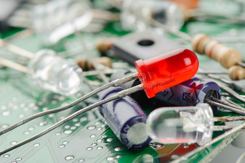 Electronic parts stock photos