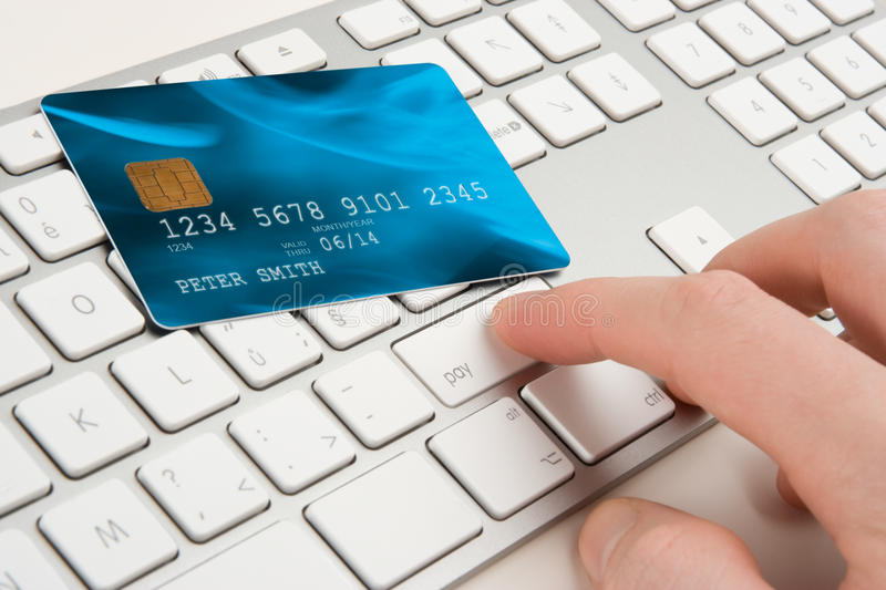 Electronic payment concept royalty free stock photos