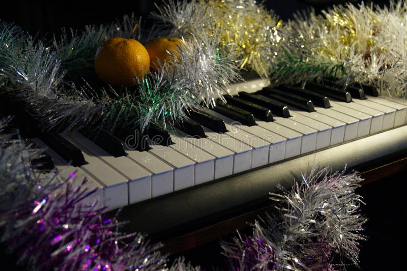 Electronic piano royalty free stock photos