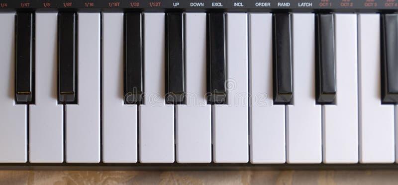 Electronic piano keyboard. Keys detail royalty free stock images