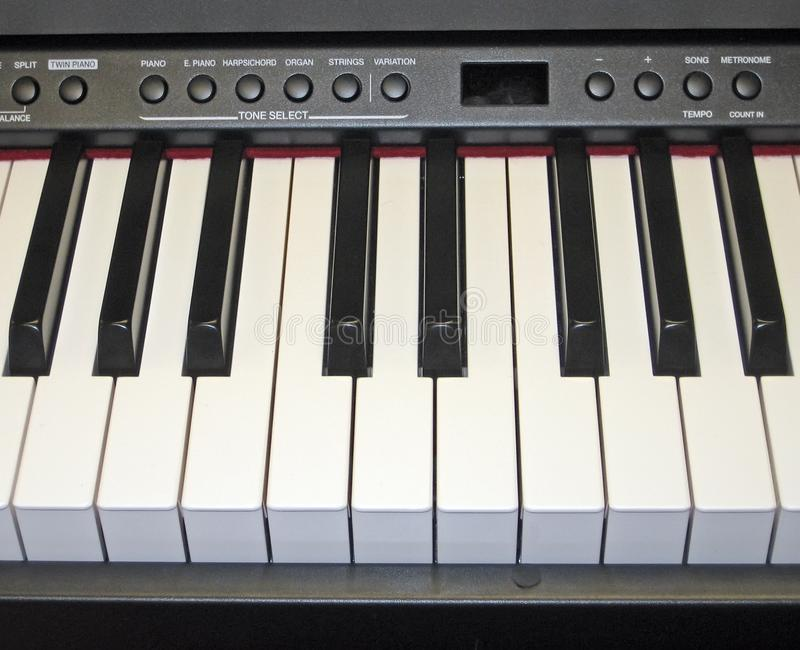Electronic Piano Keyboard royalty free stock image