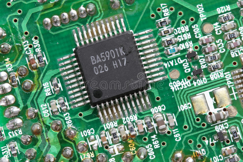 Electronic printed circuit board royalty free stock photography