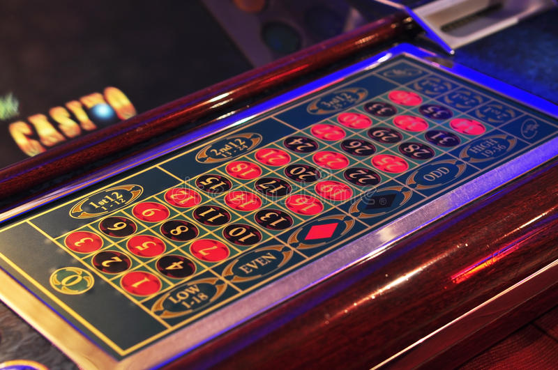Electronic roulette royalty free stock images