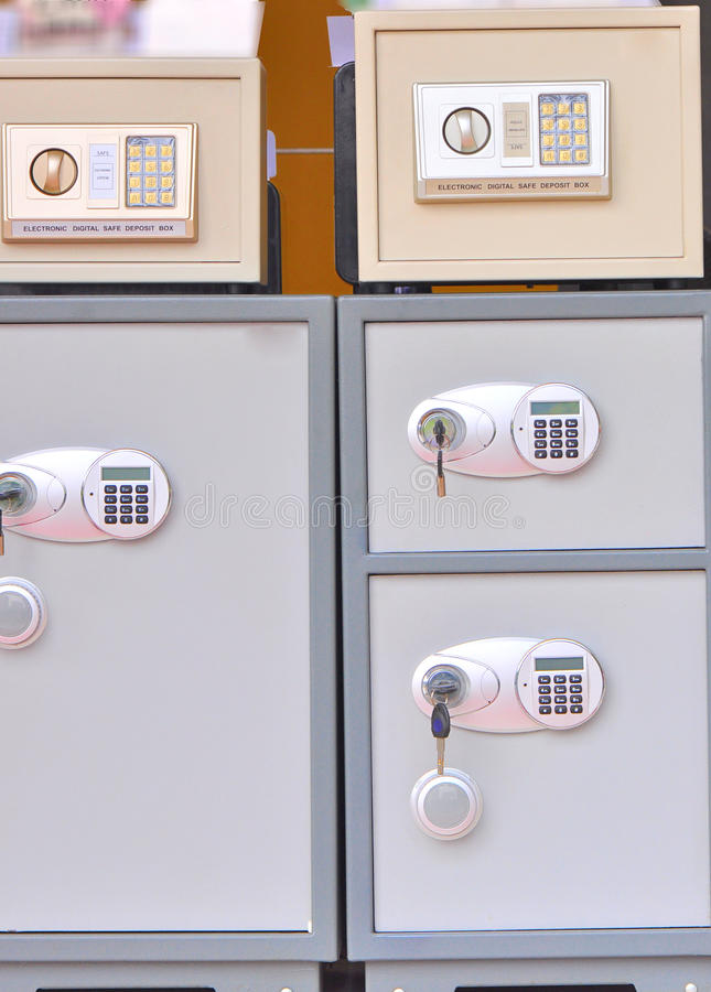 Download Electronic Safe Deposit Boxes Stock Photo - Image: 21856584