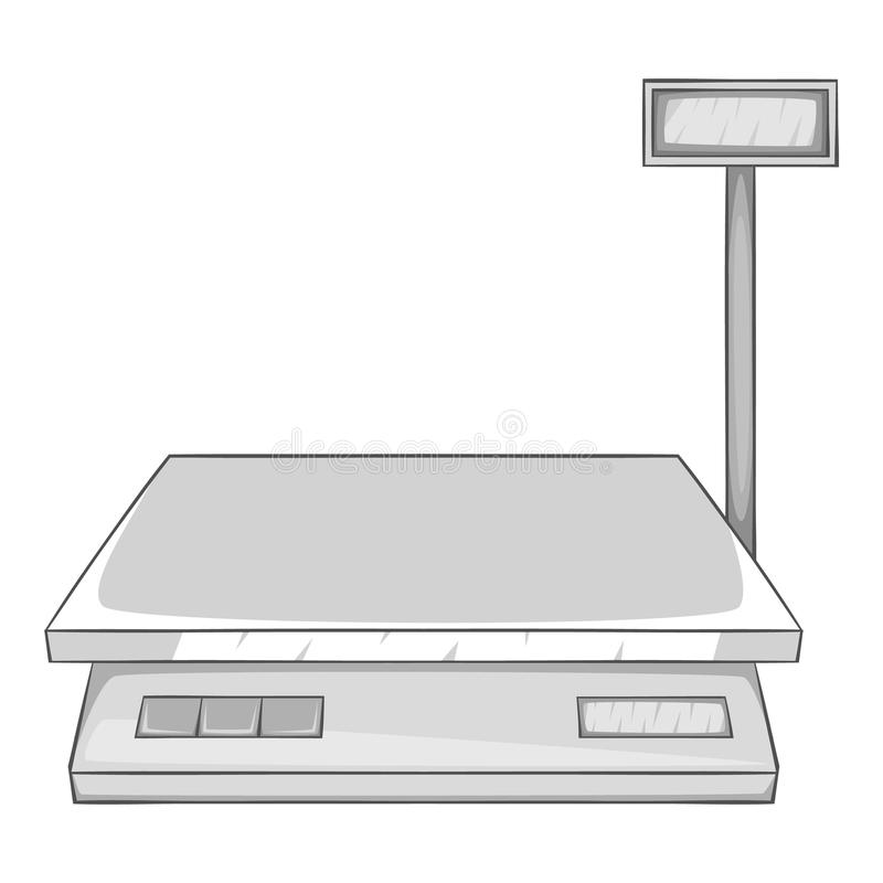 Free Electronic Scale Icon, Gray Monochrome Style Royalty Free Stock Image - 79674656