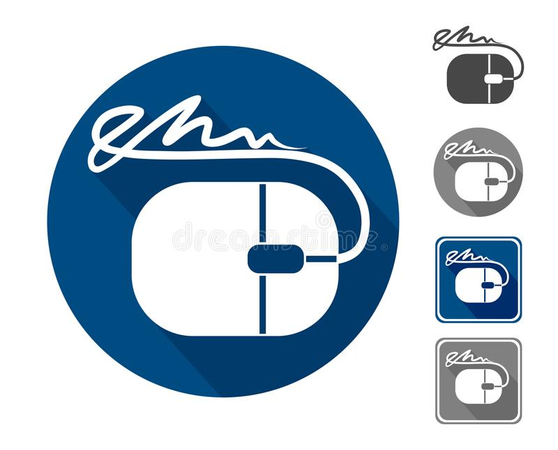 Electronic signature, icon stock illustration