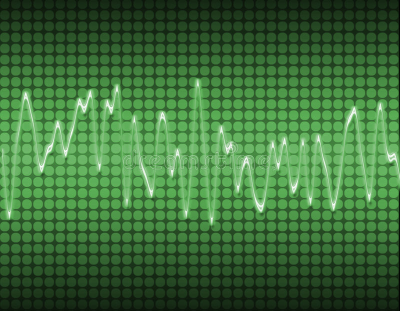 Electronic Sine Sound Wave Royalty Free Stock Photo