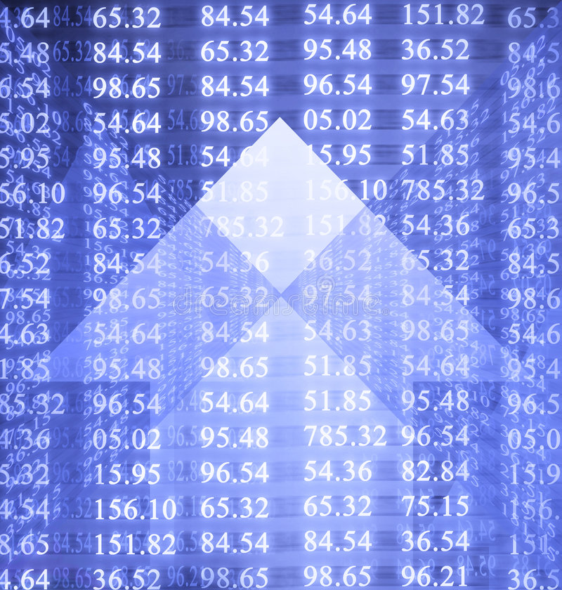 Electronic stock numbers stock images