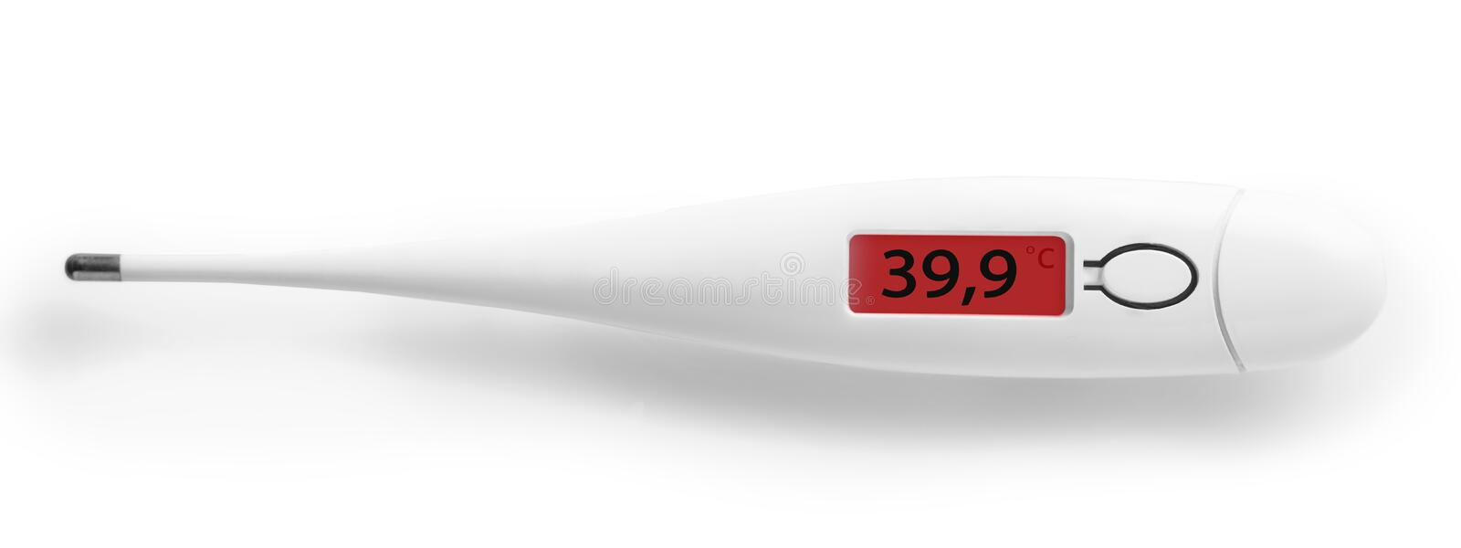 The electronic thermometer closeup royalty free stock images
