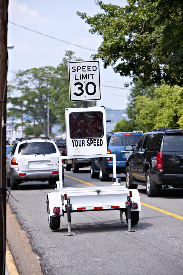 Download Electronic Traffic Monitor Showing Speed Limit Stock Photo - Image: 15381536