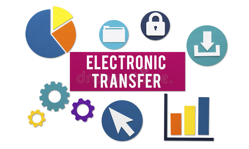 Electronic Transfer Banking Payment Online Concept Stock Image - Image of computer, information